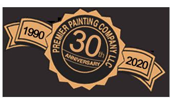 Premier Painting Company LLC 1990-2020 30th Anniversary